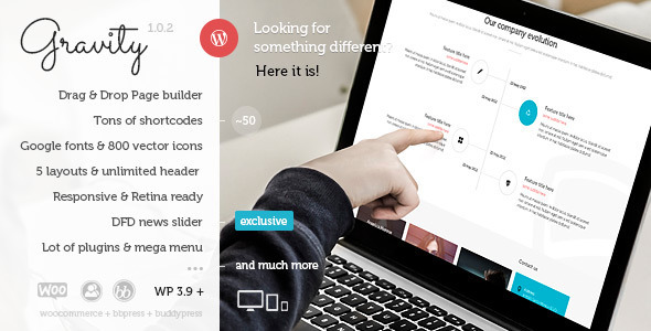 Gravity — Multi-Purpose Creative WordPress Theme