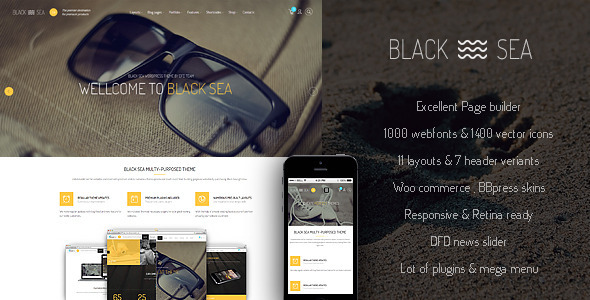 Black Sea — clean & clear multi-purpose theme